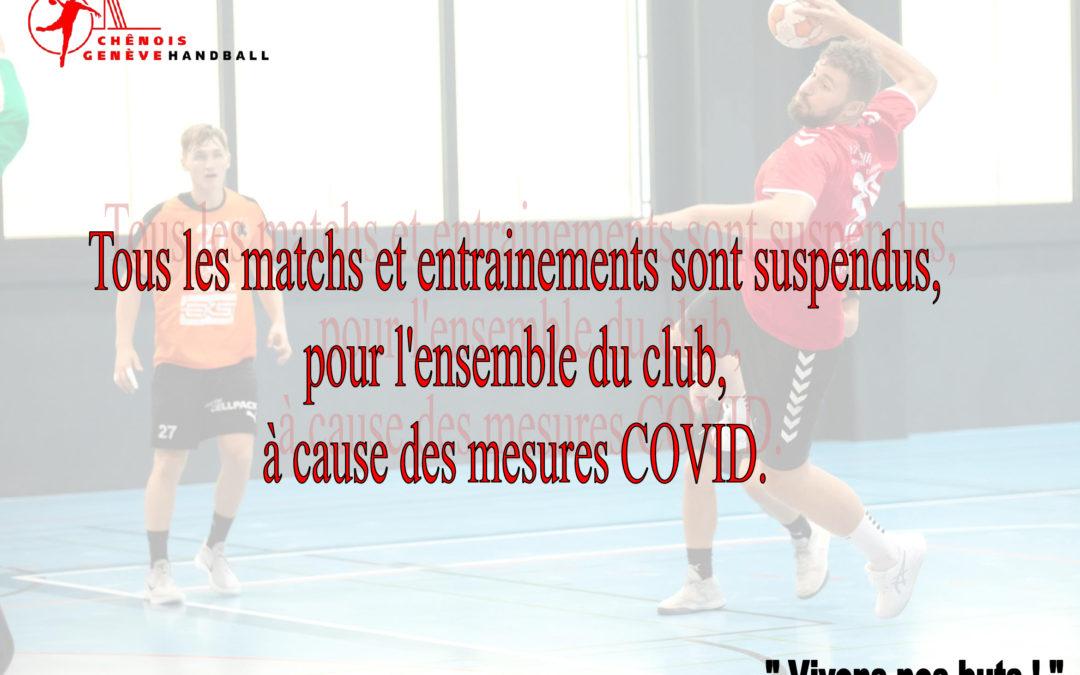 Suspension du Handball pour l'instant